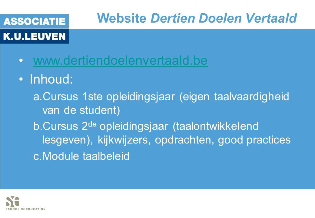 Website Dertien Doelen Vertaald
