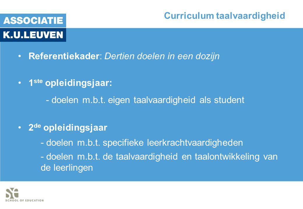 Curriculum taalvaardigheid