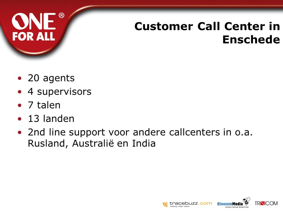 Customer Call Center in Enschede