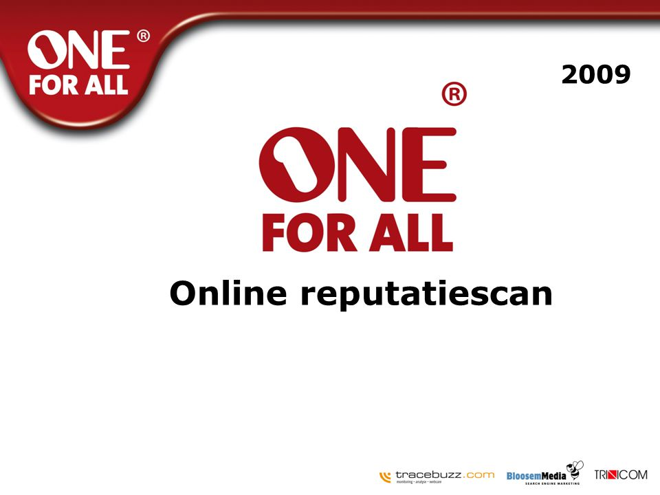 2009 Online reputatiescan