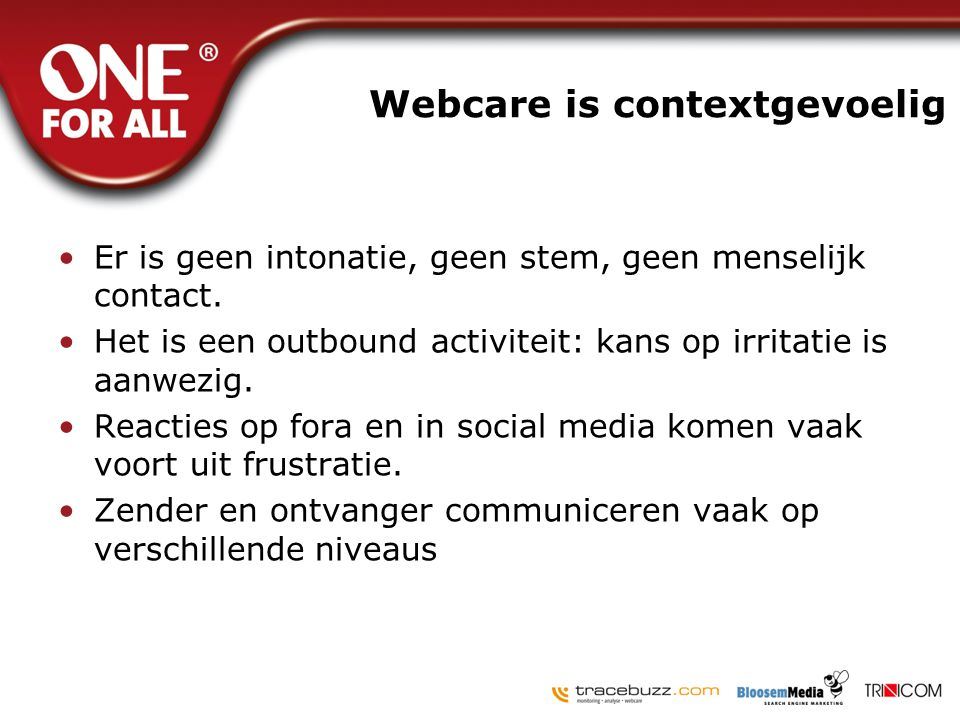 Webcare is contextgevoelig