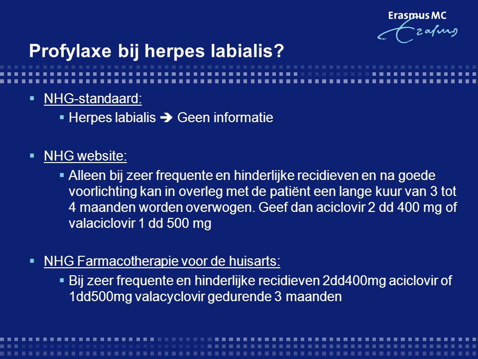 Profylaxe bij herpes labialis