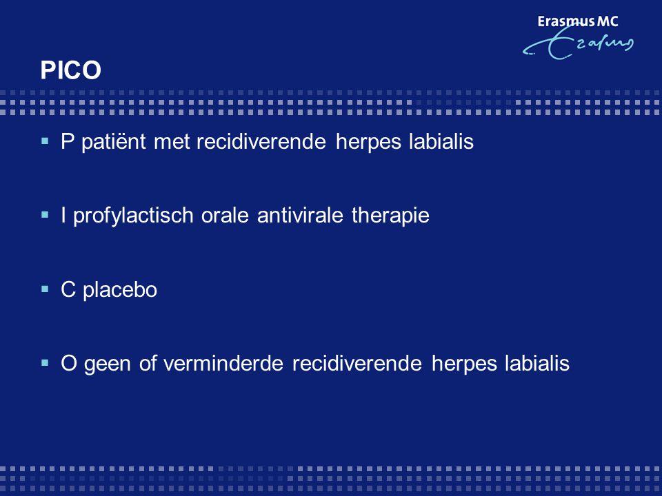 PICO P patiënt met recidiverende herpes labialis