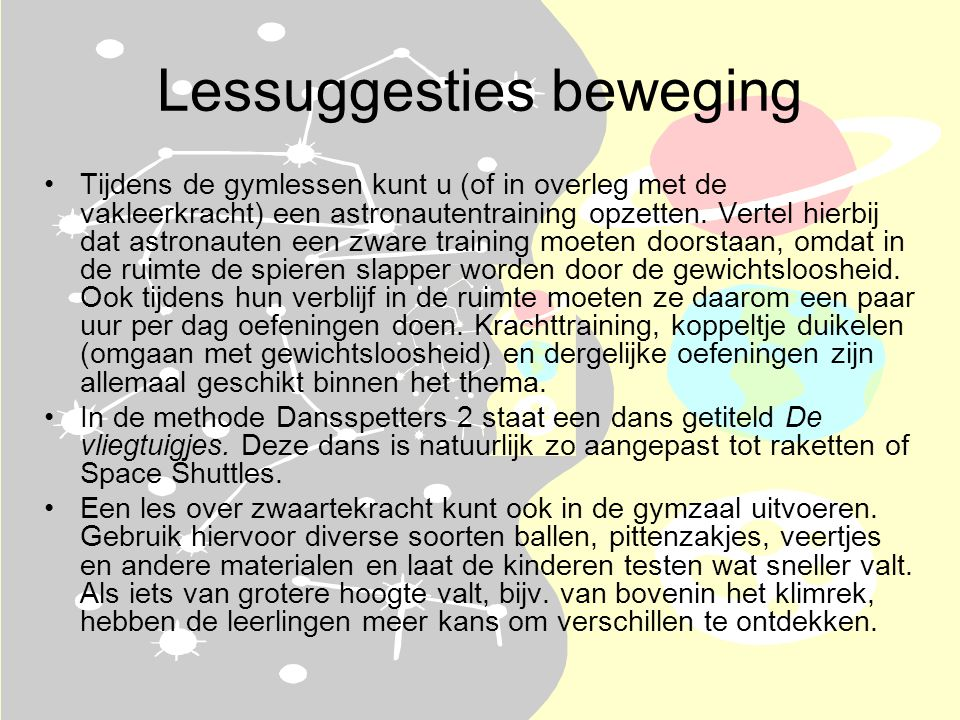 Lessuggesties beweging