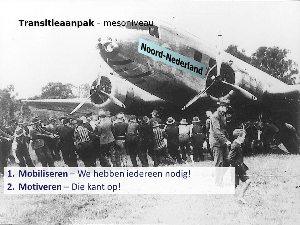 Mobiliseren – We hebben iedereen nodig! Motiveren – Die kant op!