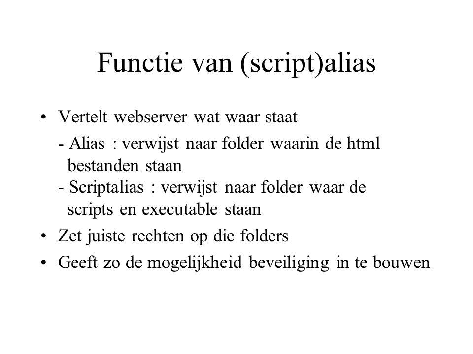 Functie van (script)alias