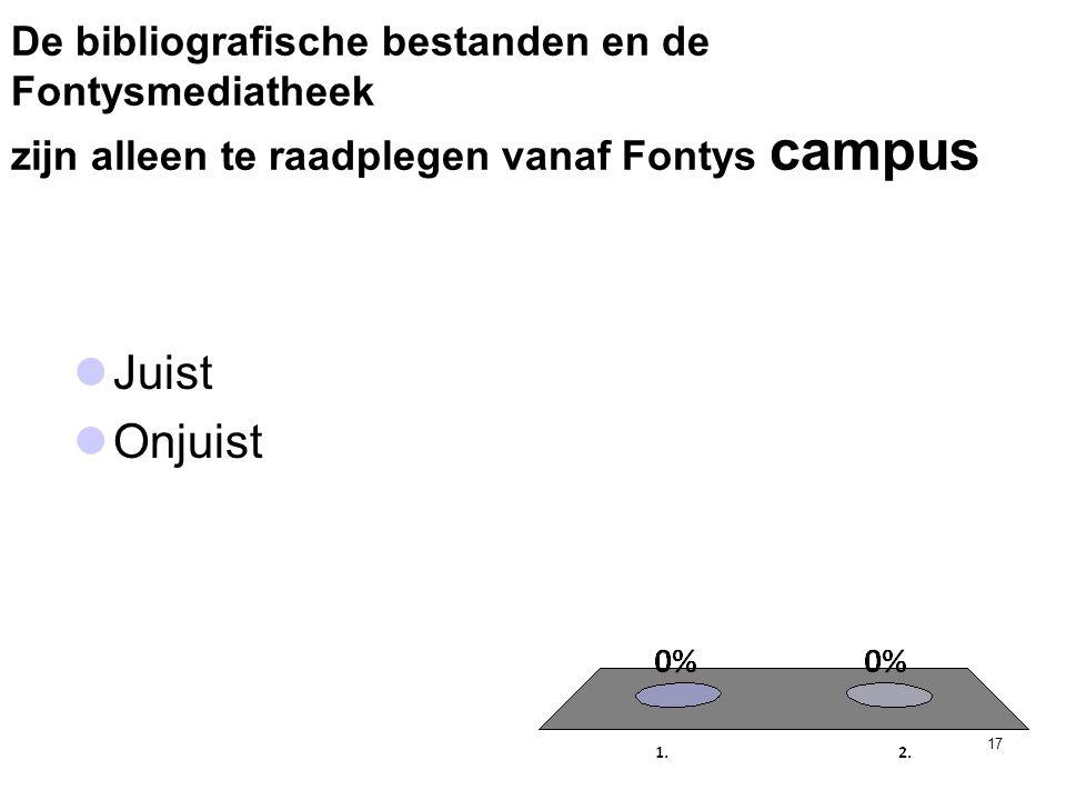 De bibliografische bestanden en de Fontysmediatheek zijn alleen te raadplegen vanaf Fontys campus