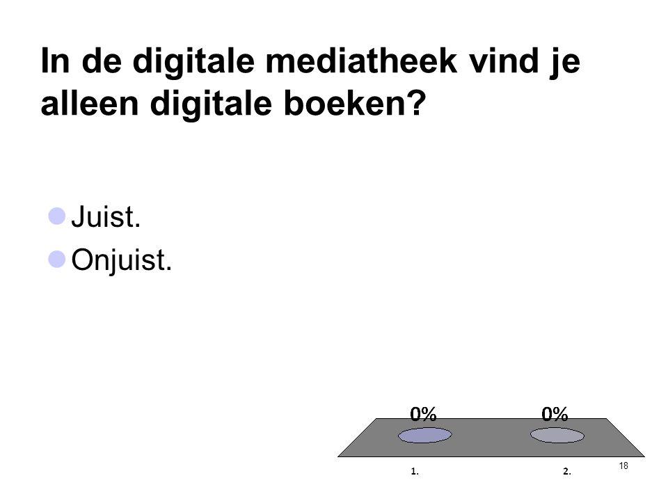 In de digitale mediatheek vind je alleen digitale boeken