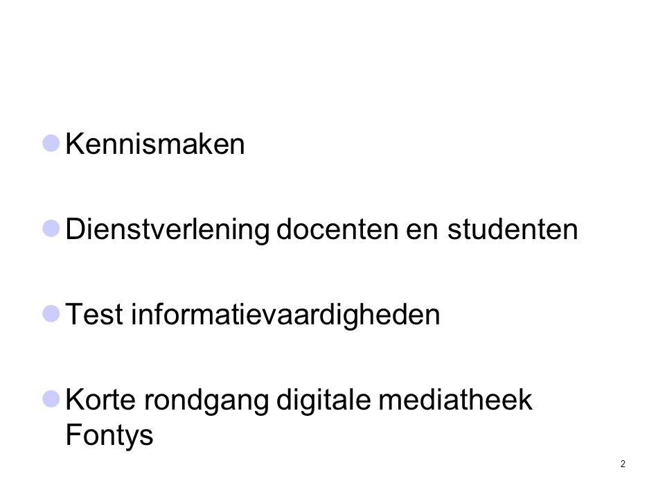 Kennismaken Dienstverlening docenten en studenten.