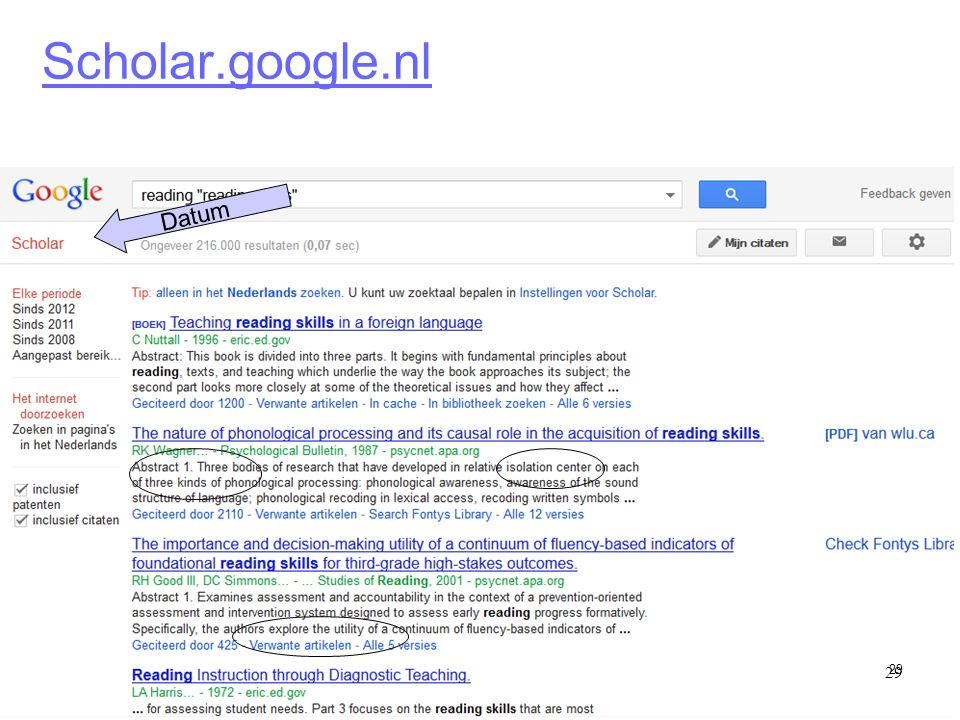 Scholar.google.nl Datum 29