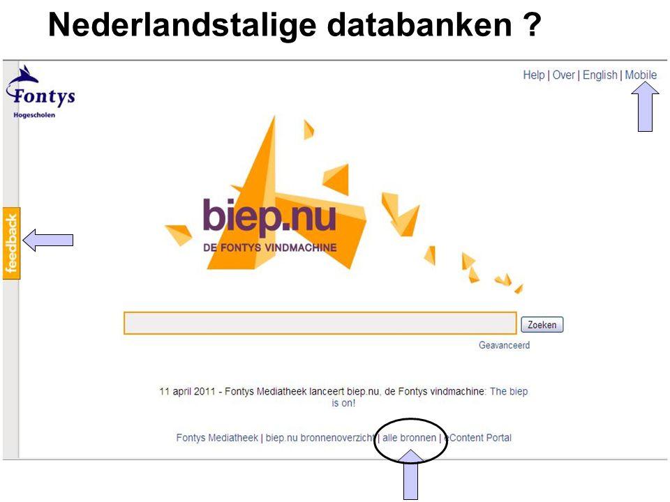 Nederlandstalige databanken