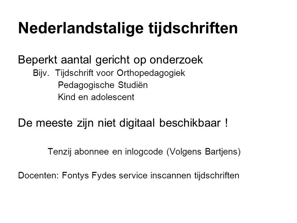 Nederlandstalige tijdschriften