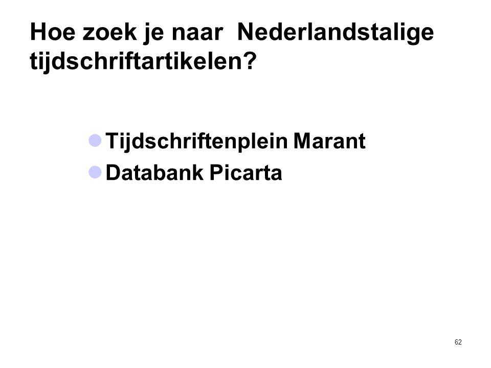Hoe zoek je naar Nederlandstalige tijdschriftartikelen