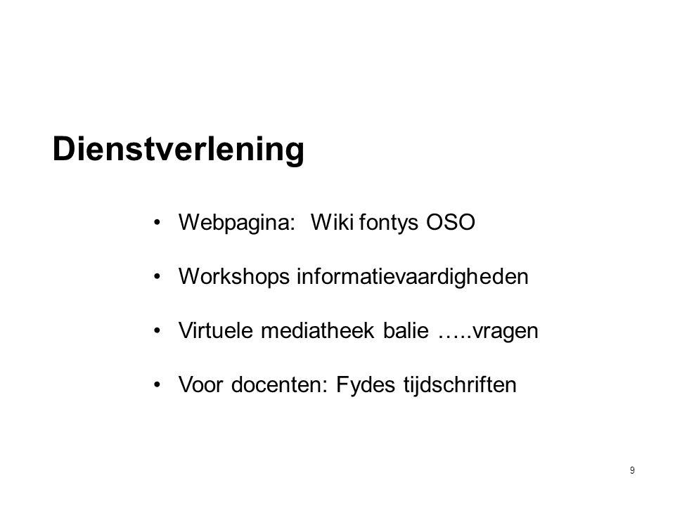 Dienstverlening Webpagina: Wiki fontys OSO
