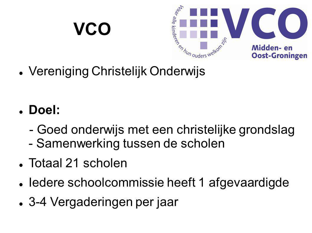 VCO Vereniging Christelijk Onderwijs Doel: