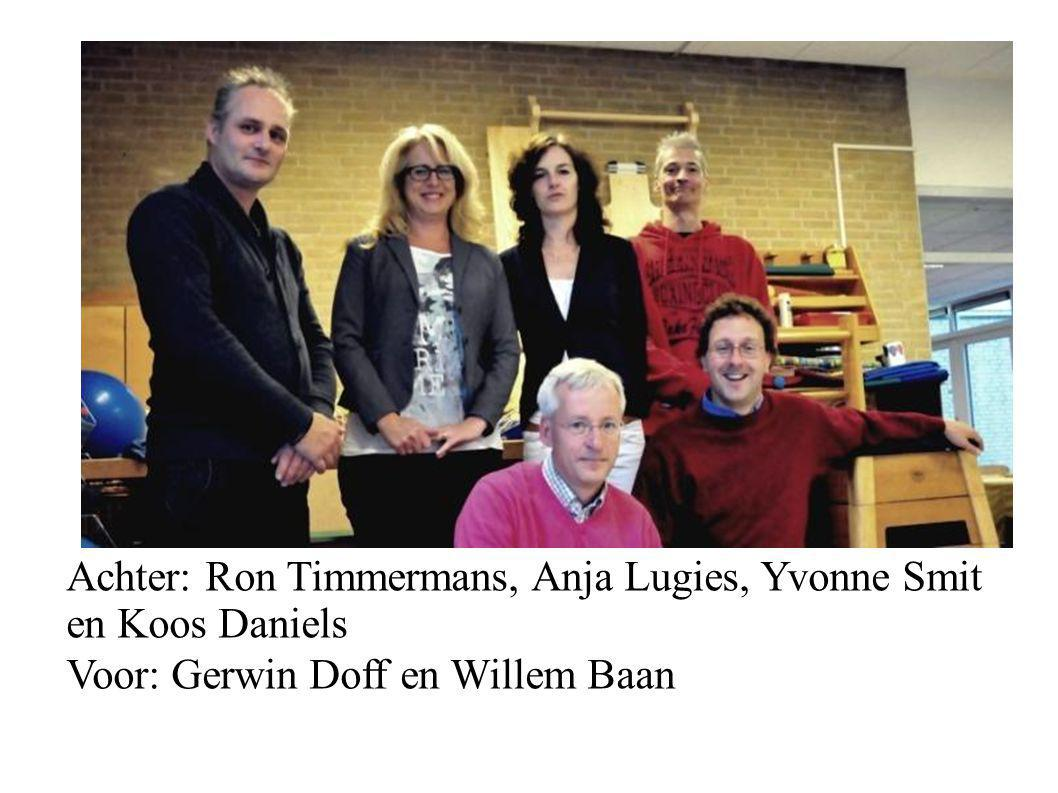 Achter: Ron Timmermans, Anja Lugies, Yvonne Smit en Koos Daniels