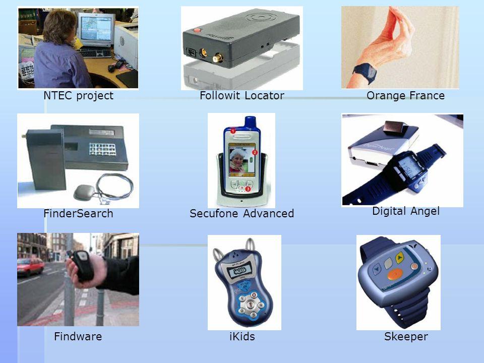 NTEC project Followit Locator. Orange France. FinderSearch. Secufone Advanced. Digital Angel. Findware.
