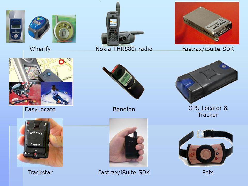 Wherify Nokia THR880i radio. Fastrax/iSuite SDK. EasyLocate. Benefon. GPS Locator & Tracker. Trackstar.