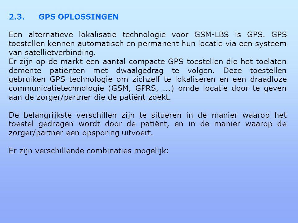 2.3. GPS OPLOSSINGEN