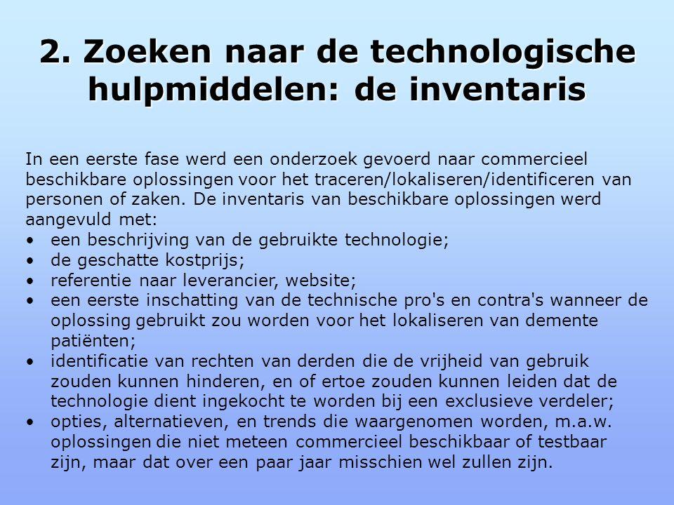2. Zoeken naar de technologische hulpmiddelen: de inventaris