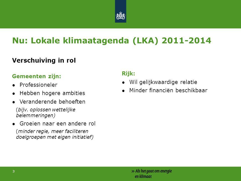 Nu: Lokale klimaatagenda (LKA) 2011-2014