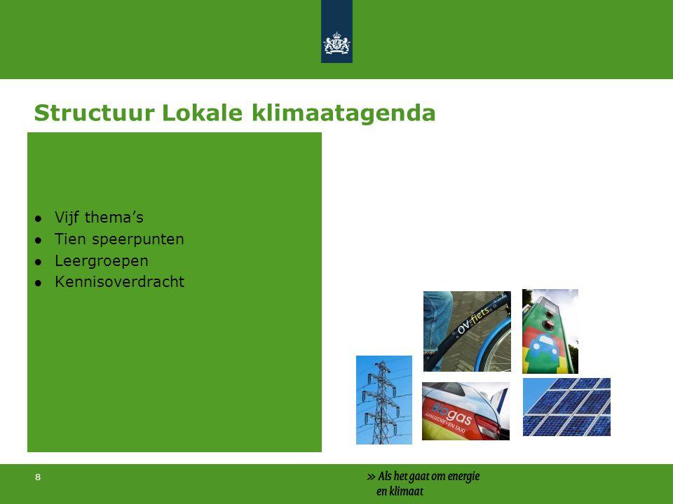 Structuur Lokale klimaatagenda