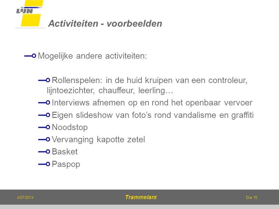Activiteiten - voorbeelden