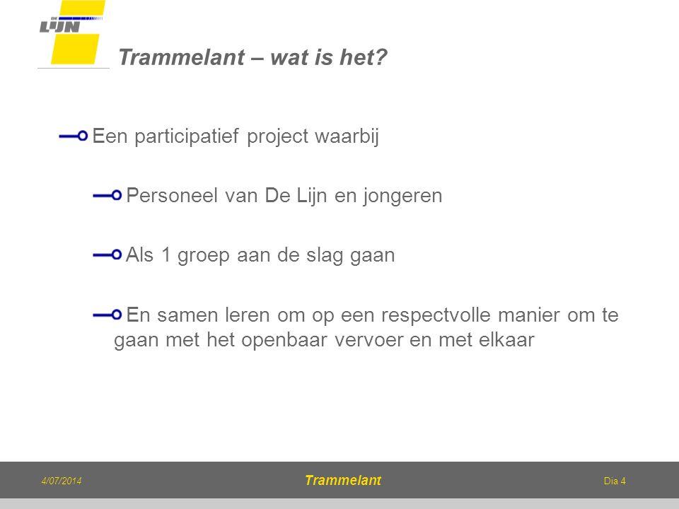 Trammelant – wat is het Een participatief project waarbij