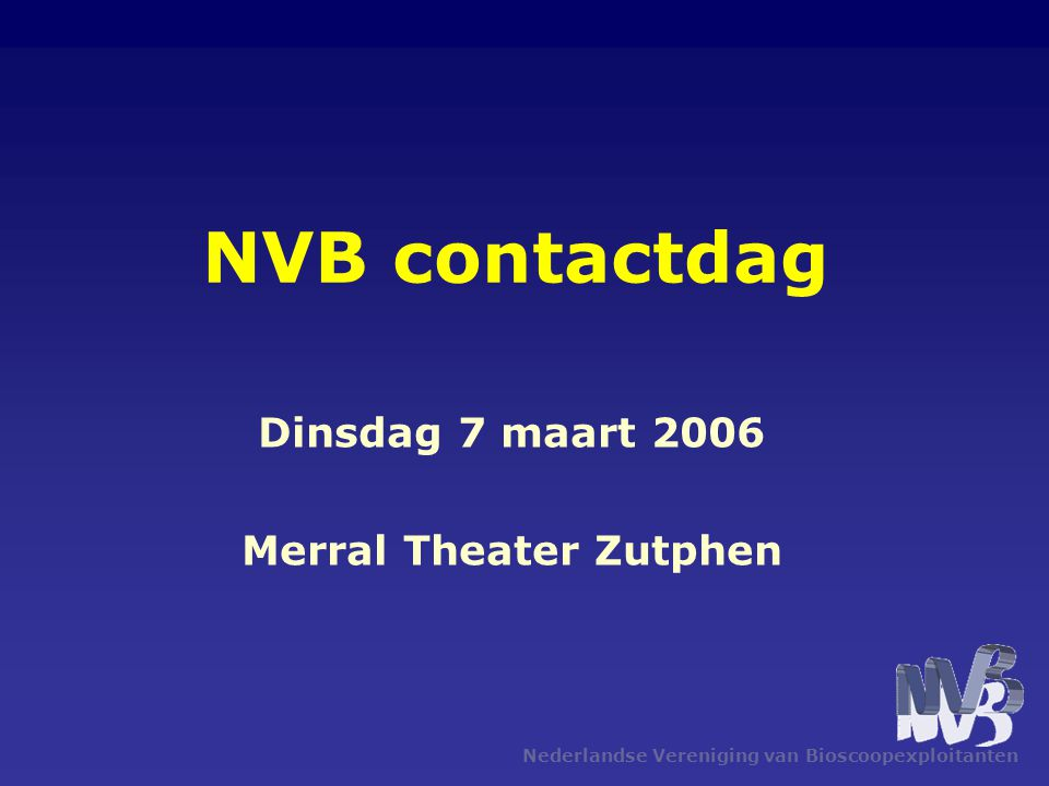 Dinsdag 7 maart 2006 Merral Theater Zutphen