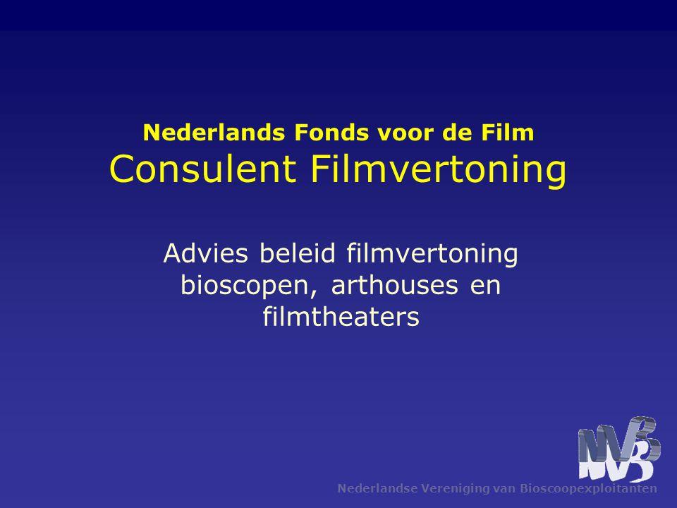 Nederlands Fonds voor de Film Consulent Filmvertoning