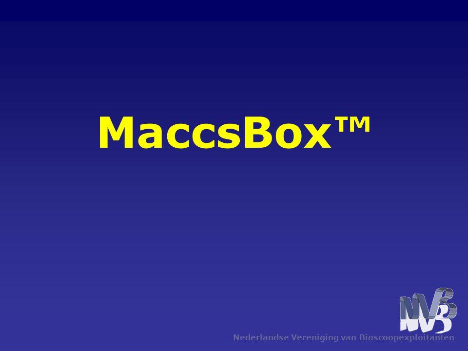 MaccsBox™ Nederlandse Vereniging van Bioscoopexploitanten