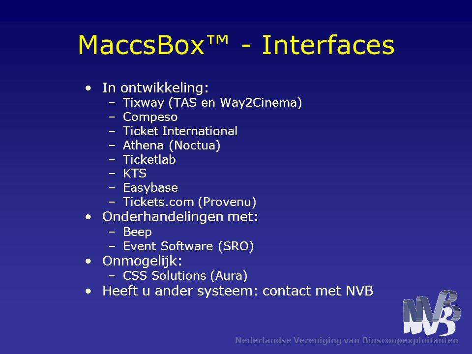 MaccsBox™ - Interfaces