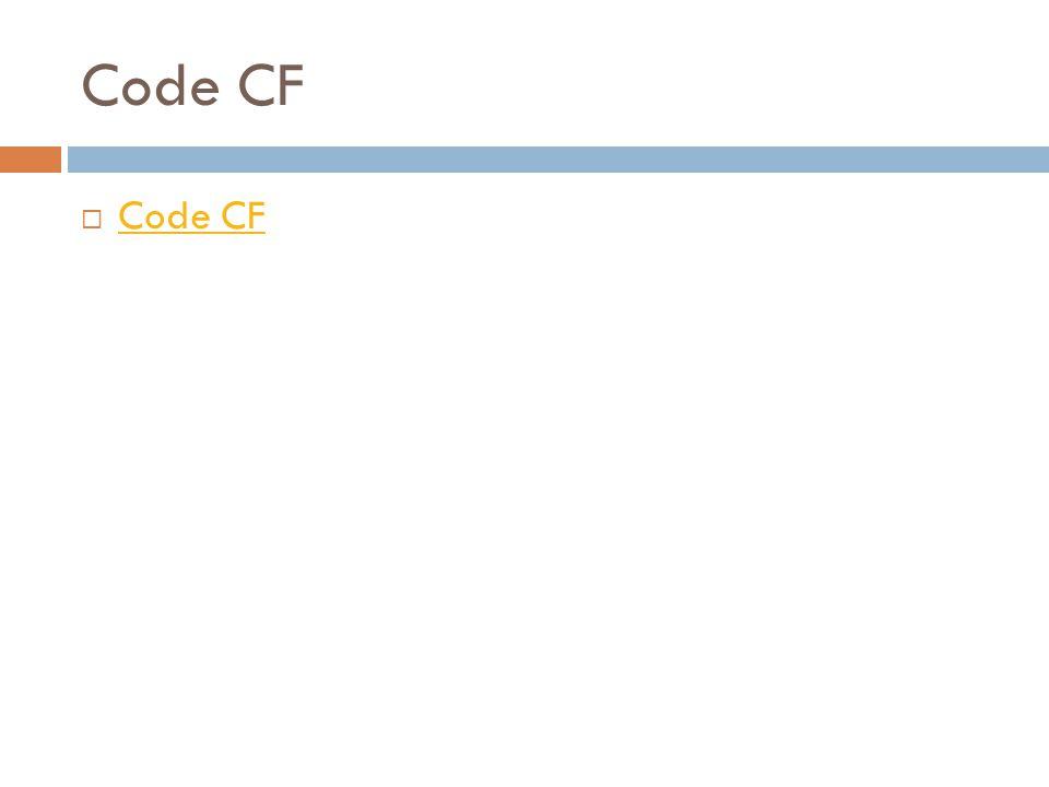 Code CF Code CF