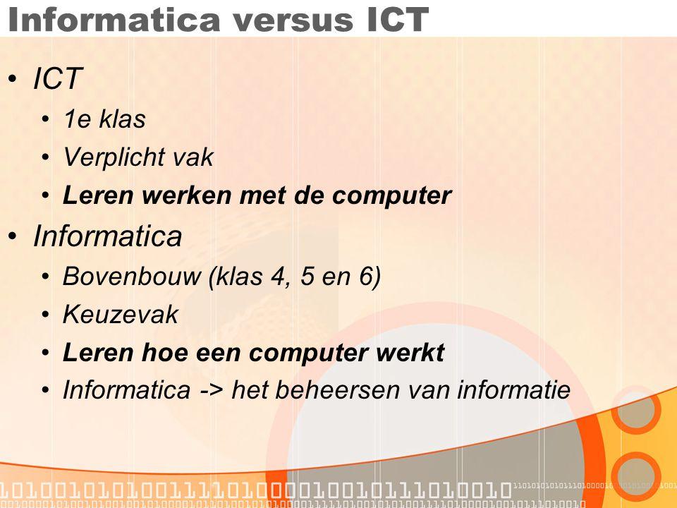 Informatica versus ICT