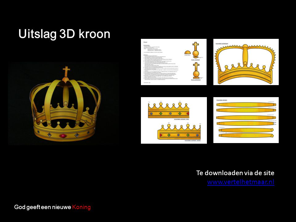 Uitslag 3D kroon Te downloaden via de site