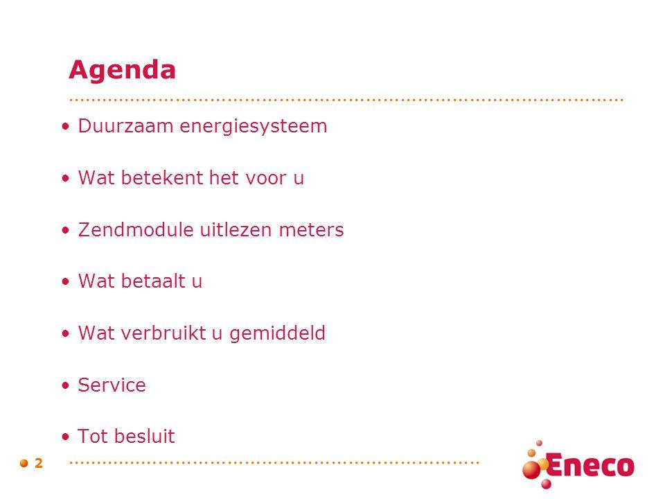 Agenda Duurzaam energiesysteem Wat betekent het voor u