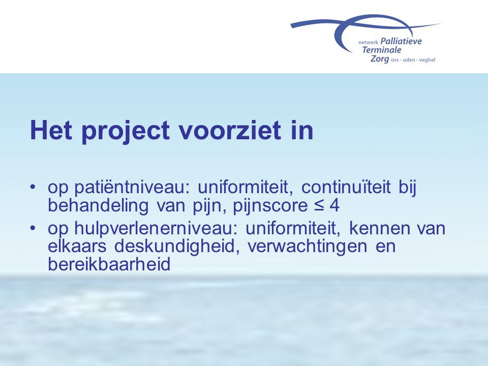 Het project voorziet in