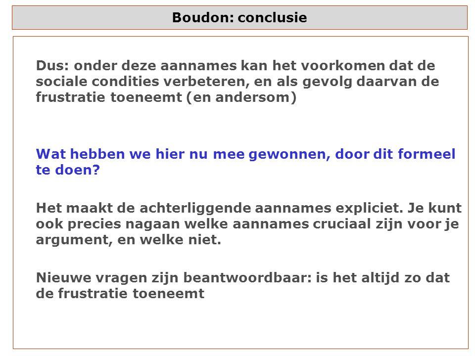 Boudon: conclusie