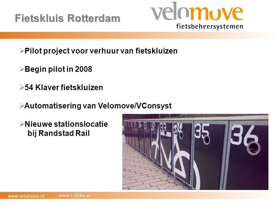 Fietskluis Rotterdam Pilot project voor verhuur van fietskluizen