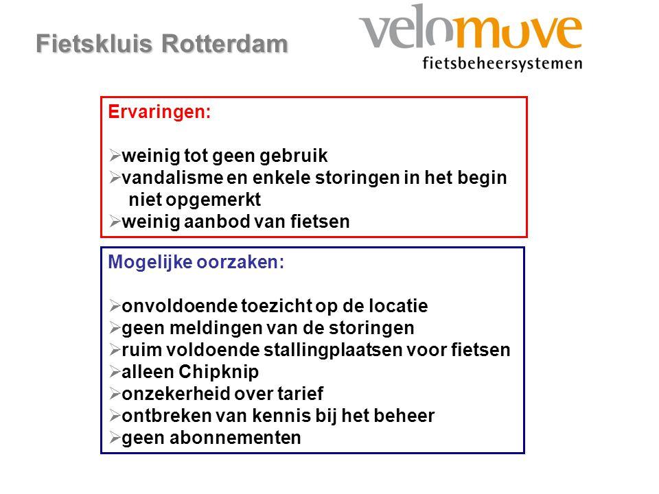 Fietskluis Rotterdam Ervaringen: weinig tot geen gebruik