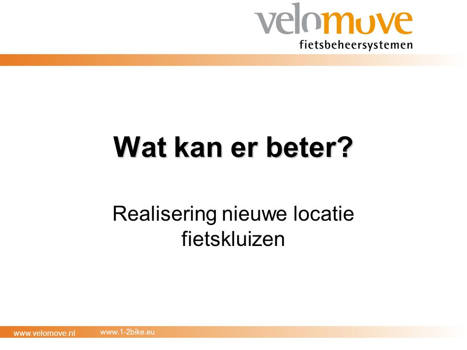 Realisering nieuwe locatie fietskluizen
