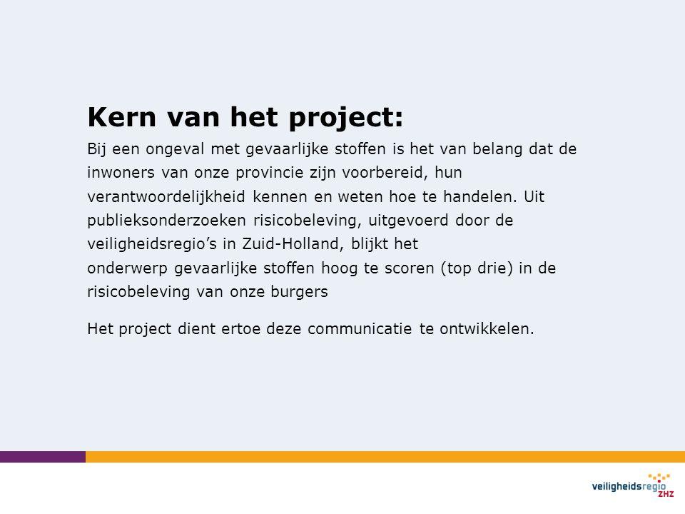 Kern van het project: