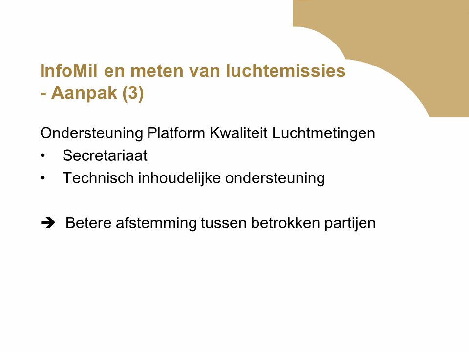 InfoMil en meten van luchtemissies - Aanpak (3)