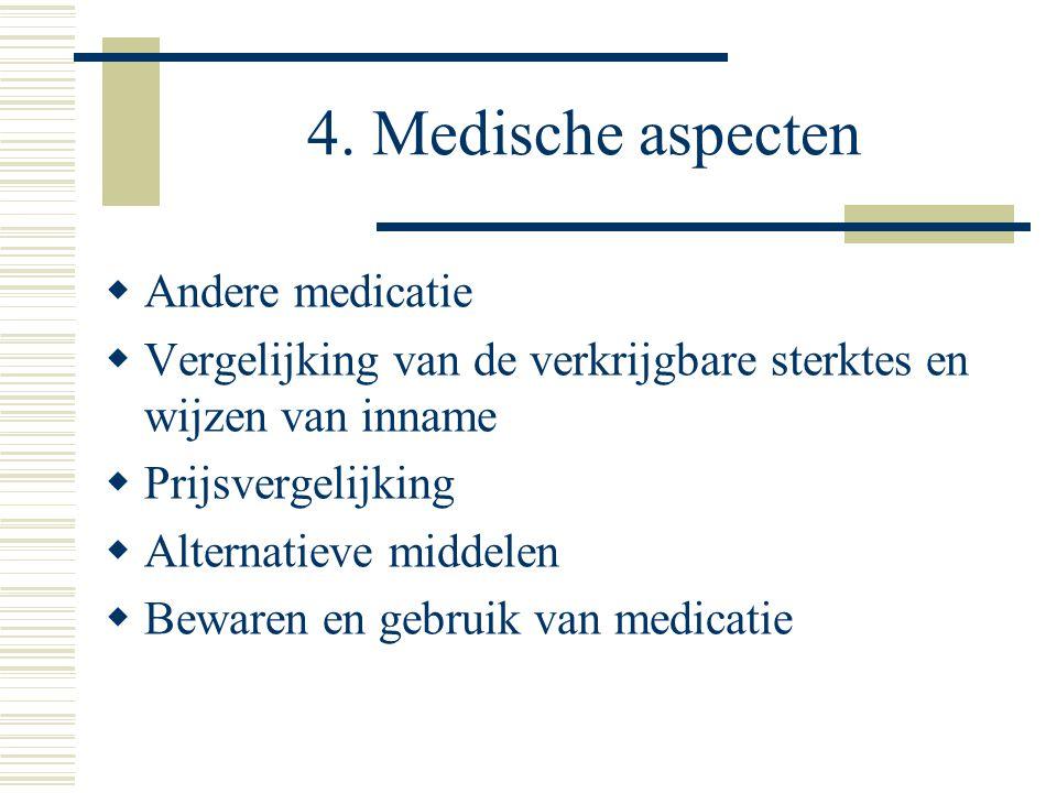 4. Medische aspecten Andere medicatie