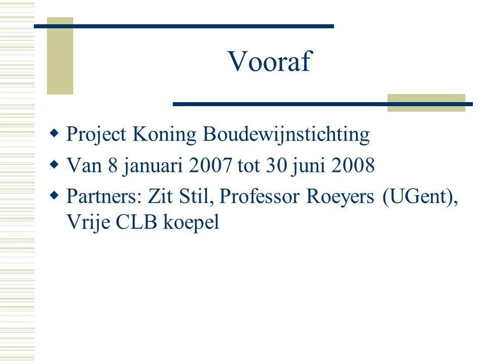 Vooraf Project Koning Boudewijnstichting