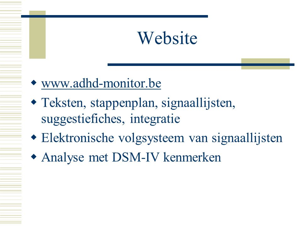 Website www.adhd-monitor.be