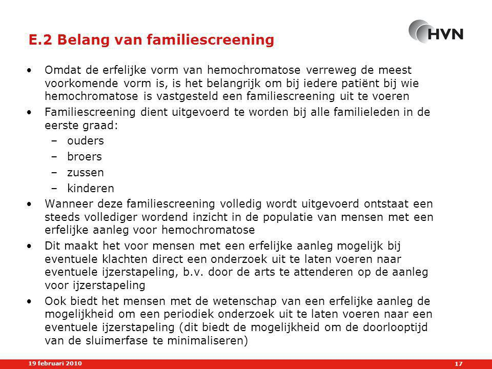 E.2 Belang van familiescreening