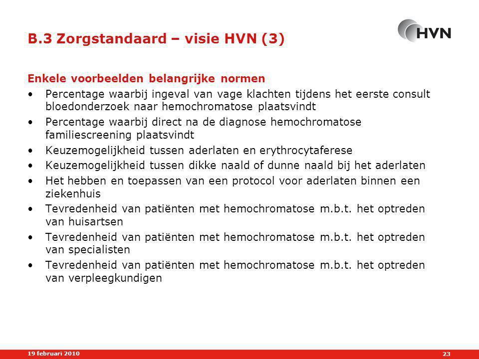 B.3 Zorgstandaard – visie HVN (3)