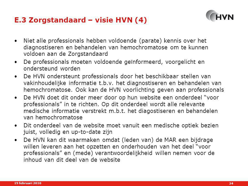 E.3 Zorgstandaard – visie HVN (4)