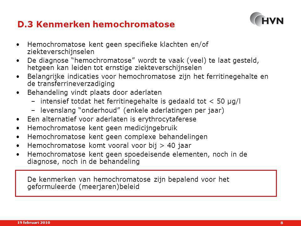 D.3 Kenmerken hemochromatose